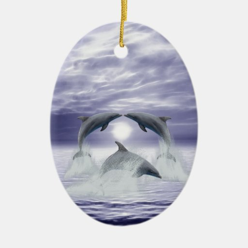 I love dolphins christmas tree ornament
