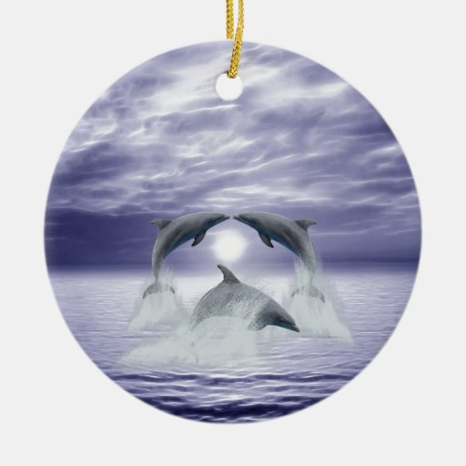 I love dolphins christmas ornaments