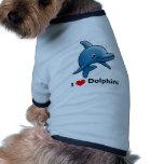 I love Dolphins Pet T Shirt