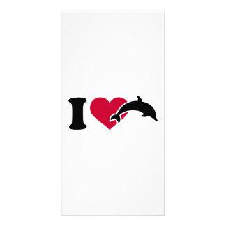 I love Dolphins Photo Card
