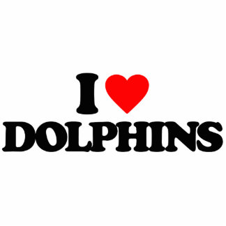 I LOVE DOLPHINS PHOTO CUT OUTS