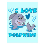 I Love Dolphins Post Cards