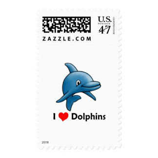 I love Dolphins Postage