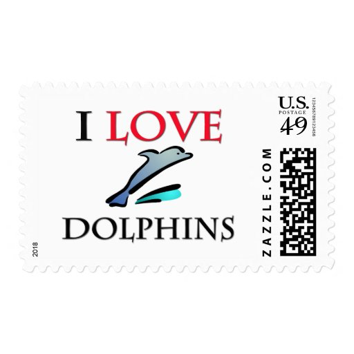 I Love Dolphins Stamp