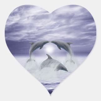 I love dolphins heart sticker
