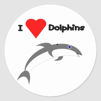 I Love Dolphins Stickers