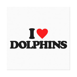 I LOVE DOLPHINS STRETCHED CANVAS PRINTS