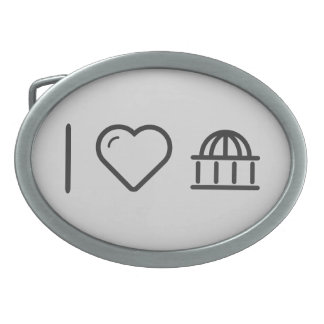 I Love Dome Sports Oval Belt Buckles