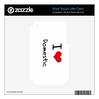 I Love Domestic iPod Touch 4G Decal