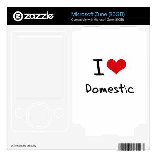 I Love Domestic Skins For Zune