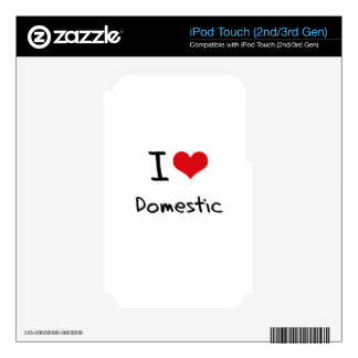 I Love Domestic Skin For iPod Touch 2G
