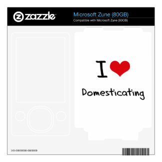 I Love Domesticating Decals For Zune