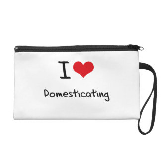 I Love Domesticating Wristlet Clutches