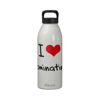 I Love Dominating Water Bottles