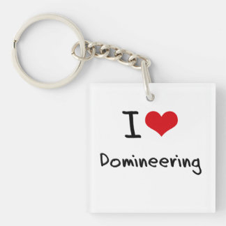 I Love Domineering Double-Sided Square Acrylic Keychain