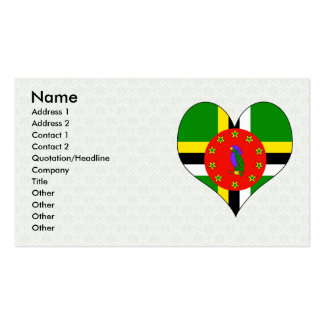 I Love Dominica Double-Sided Standard Business Cards (Pack Of 100)