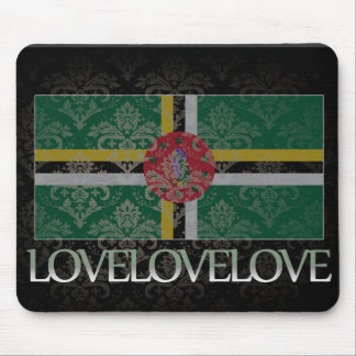 I love Dominica Cool Mouse Pad