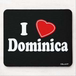 I Love Dominica Mouse Pad