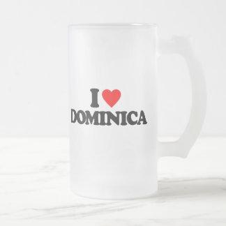 I LOVE DOMINICA GLASS BEER MUG