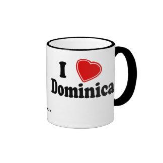 I Love Dominica Ringer Mug
