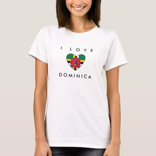 I Love Dominica Spaghetti Top