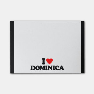 I LOVE DOMINICA POST-IT® NOTES