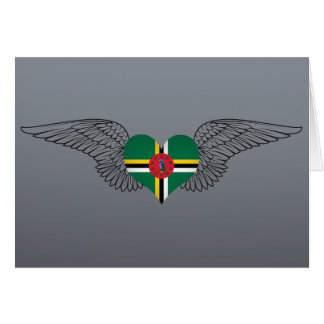 I Love Dominica -wings Card