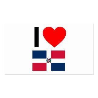 i love dominican republic business card template