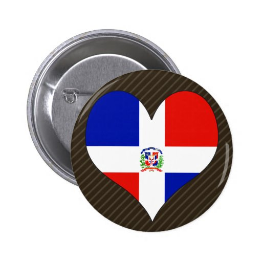 I Love Dominican Republic Buttons