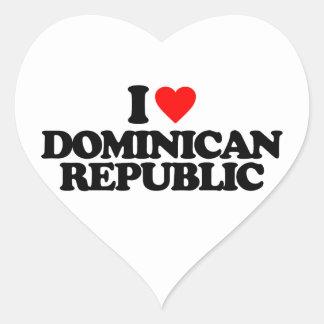 I LOVE DOMINICAN REPUBLIC HEART STICKER