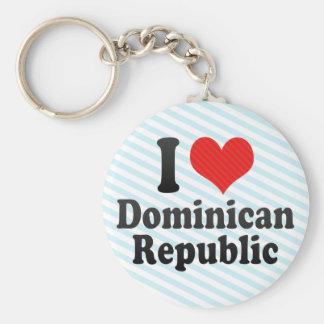 I Love Dominican+Republic Keychain