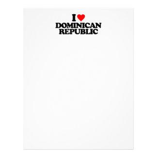 I LOVE DOMINICAN REPUBLIC CUSTOMIZED LETTERHEAD