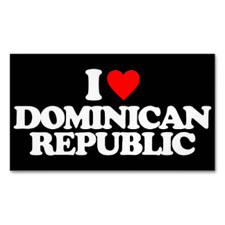 I LOVE DOMINICAN REPUBLIC MAGNETIC BUSINESS CARD