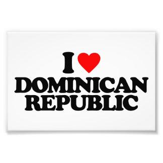 I LOVE DOMINICAN REPUBLIC ART PHOTO