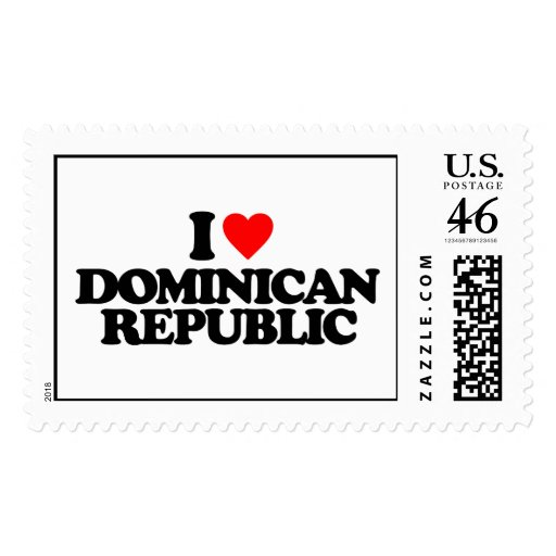 I LOVE DOMINICAN REPUBLIC STAMP