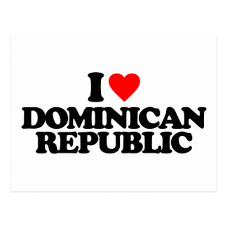 I LOVE DOMINICAN REPUBLIC POSTCARD