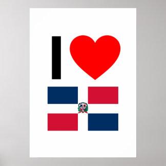 i love dominican republic poster