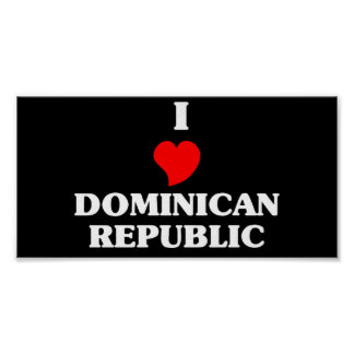I Love Dominican Republic Print