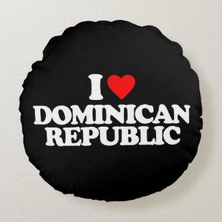 I LOVE DOMINICAN REPUBLIC ROUND PILLOW