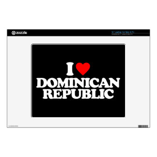 "I LOVE DOMINICAN REPUBLIC SKIN FOR 12"" LAPTOP"