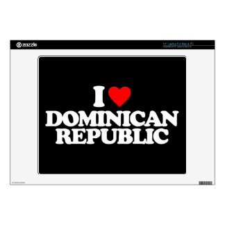 I LOVE DOMINICAN REPUBLIC DECAL FOR LAPTOP
