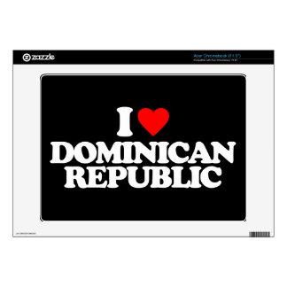 I LOVE DOMINICAN REPUBLIC ACER CHROMEBOOK SKINS