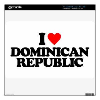 I LOVE DOMINICAN REPUBLIC MacBook AIR DECAL