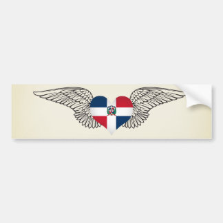 I Love Dominican Republic -wings Bumper Sticker