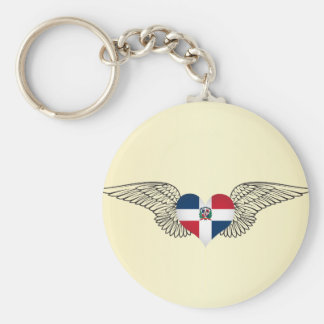 I Love Dominican Republic -wings Keychain