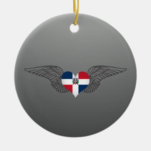 I Love Dominican Republic -wings Christmas Ornament