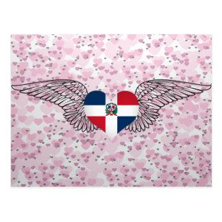 I Love Dominican Republic -wings Postcard