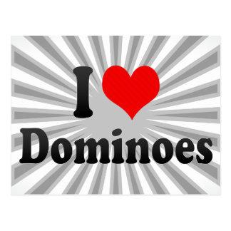 I love Dominoes Postcard