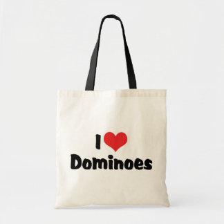 I Love Dominoes Tote Bag