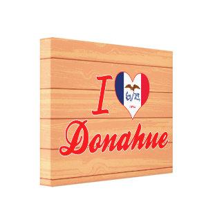 I Love Donahue, Iowa Stretched Canvas Print